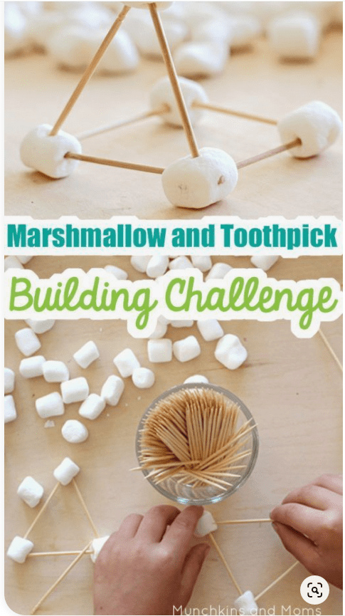 Marshmallow and toothpic building
