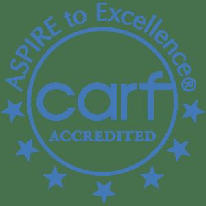 Commission on Accreditation of Rehabilitation Facilities (CARF) logo