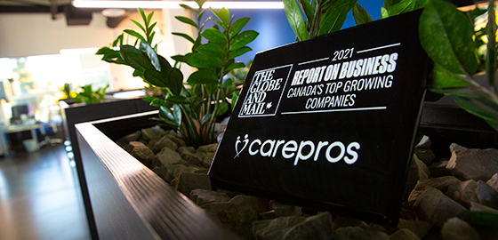 CarePros Places No.29thon The Globe and Mail's Third-annual Ranking of Canada's Top Growing Companies